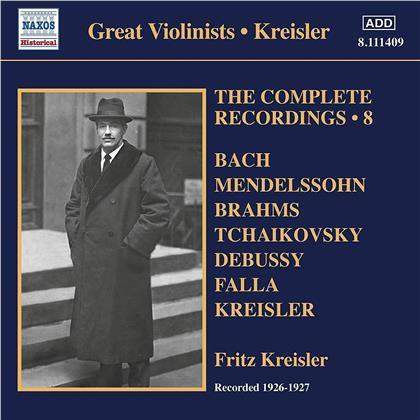 Fritz Kreisler - Grosse Violinisten - Complete Recordings Vol. 8