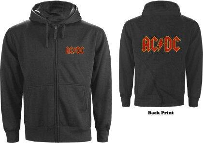 AC/DC Unisex Zipped Hoodie - Logo