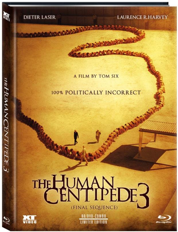 The Human Centipede 3 - Final Sequence (2015) (Cover A, Limited Edition, Mediabook, Uncut, Blu-ray + DVD)