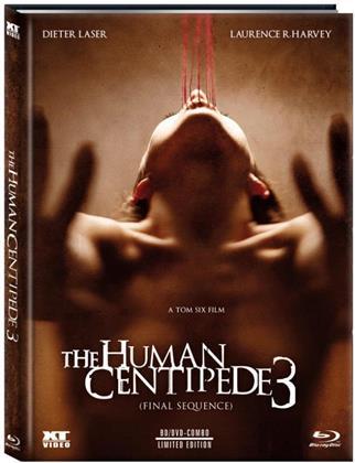 The Human Centipede 3 - Final Sequence (2015) (Cover C, Edizione Limitata, Mediabook, Uncut, Blu-ray + DVD)