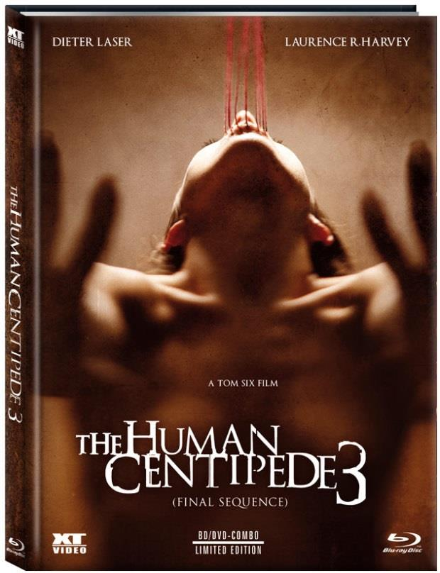 The Human Centipede 3 - Final Sequence (2015) (Cover C, Limited Edition, Mediabook, Uncut, Blu-ray + DVD)