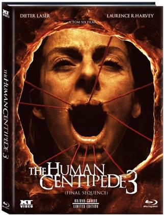 The Human Centipede 3 - Final Sequence (2015) (Cover B, Limited Edition, Mediabook, Uncut, Blu-ray + DVD)