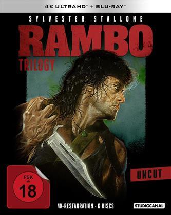 Rambo Trilogy (Uncut, 3 4K Ultra HDs + 3 Blu-rays)