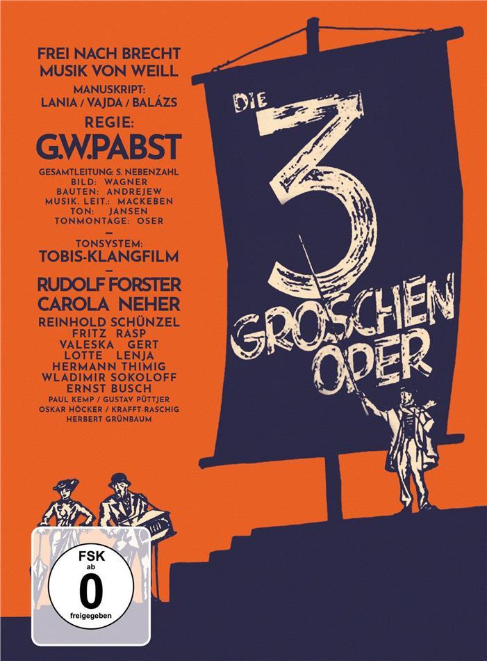 Die 3-Groschen-Oper (1931) (s/w, Mediabook, Restaurierte Fassung, Blu-ray + DVD)