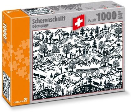 Schweizer Scherenschnitt - 1000 Teile Puzzle