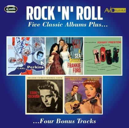 Eddie Cochran, Carl Perkins, Johnny Preston, Frankie Ford & Big Bopper - Rock N Roll - Five Classic Albums Plus (2 CDs)