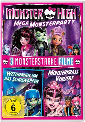 Monster High - 3 monsterstarke Filme - Mega Monsterparty / Wettrennen um das Schulwappen / Monsterkrass verliebt