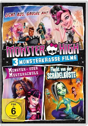 Monster High - 3 monsterkrasse Filme - Licht aus. Grusel an! / Monster- oder Musterschule / Flucht von der Schädelküste
