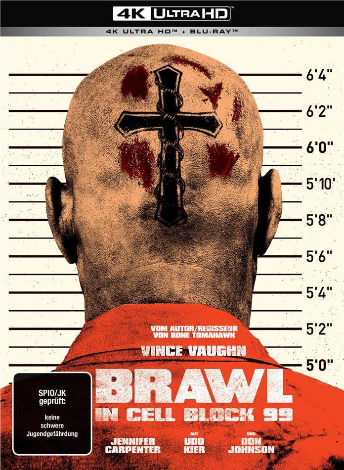 Brawl in Cell Block 99 (2017) (Limited Edition, Mediabook, Uncut, 4K Ultra HD + Blu-ray)