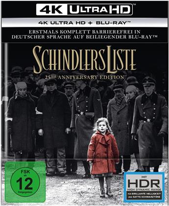 Schindlers Liste (1993) (25th Anniversary Edition, Digibook, Restored, 4K Ultra HD + 2 Blu-rays)