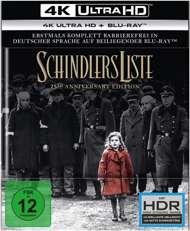 Schindlers Liste (1993) (25th Anniversary Edition, Digibook, Restaurierte Fassung, 4K Ultra HD + 2 Blu-rays)