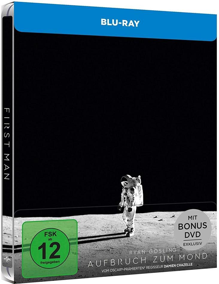 Aufbruch zum Mond (2018) (Limited Edition, Steelbook, Blu-ray + DVD)