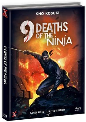 9 Deaths of the Ninja (1985) (Cover C, Limited Edition, Mediabook, Uncut, Blu-ray + DVD)