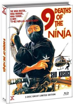 9 Deaths of the Ninja (1985) (Cover B, Limited Edition, Mediabook, Uncut, Blu-ray + DVD)