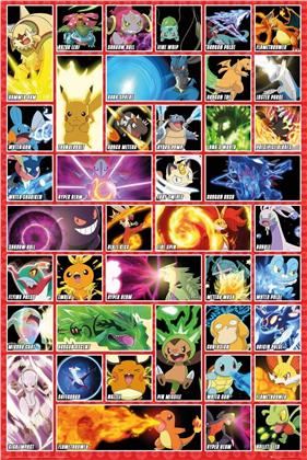 Pokémon: Moves and Abilities - Maxi Poster