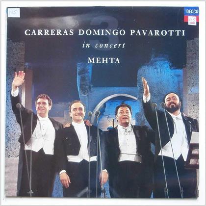 Carreras & Domingo Pavaro, José Carreras, Placido Domingo, Luciano Pavarotti & Zubin Mehta - Carreras Domingo Pavarotti Mehta In Concert (LP)