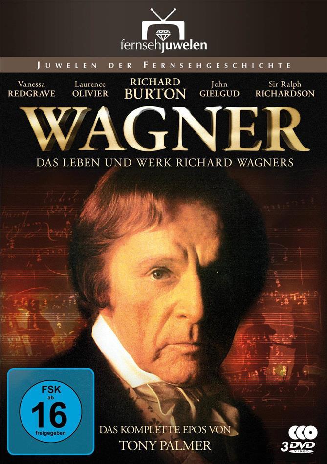 Wagner - Das Leben und Werk Richard Wagners - Die komplette Miniserie (Fernsehjuwelen, 3 DVDs)