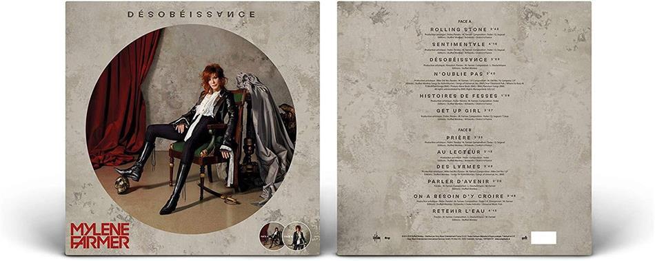 Mylène Farmer - Desobeissance (2019 Reissue, Picture Disc, LP)