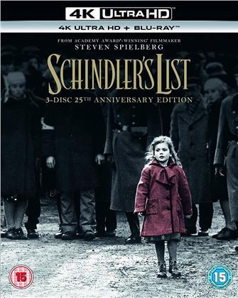Schindler's List (1993) (25th Anniversary Edition, 4K Ultra HD + 2 Blu-rays)