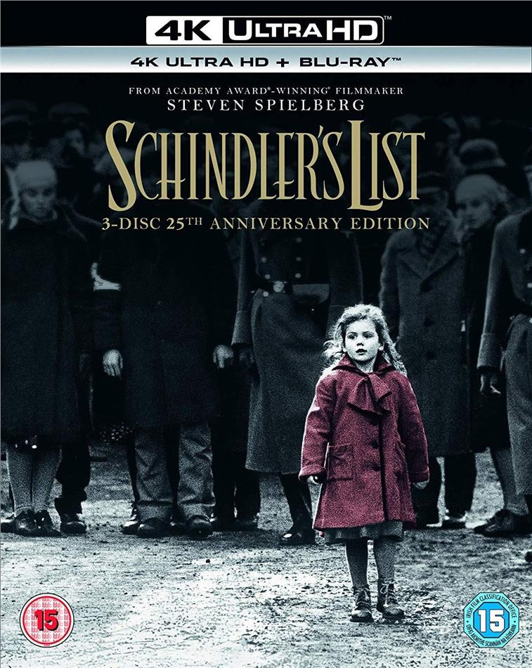 Schindler's List (1993) (25th Anniversary Edition, 4K Ultra HD + 2 Blu-rays)