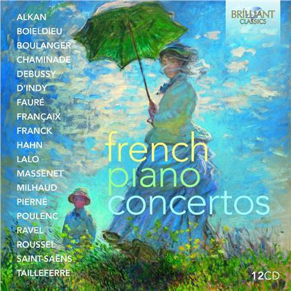 French Piano Concertos (12 CDs)