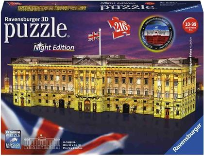 Buckingham Palace bei Nacht - 216 Teile 3D-Puzzle (Night Edition)