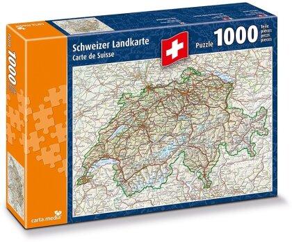 Schweizer Landkarte Puzzle