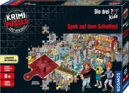 Die drei ??? Kids: Spuk auf dem Schulfest - Krimipuzzle 200 Teile