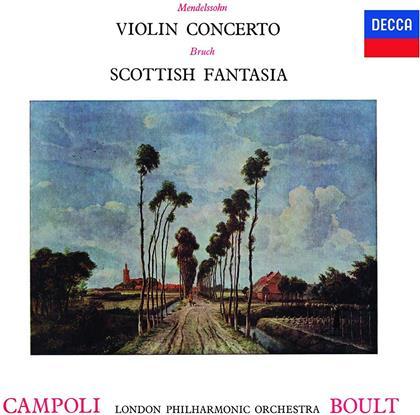Felix Mendelssohn-Bartholdy (1809-1847), Max Bruch (1838-1920), Sir Adrian Boult, Alfredo Campoli & London Philamonic Orchestra - Violin Concerto in E minor op. 64, Scottish Fantasy op. 46 (Japan Edition)