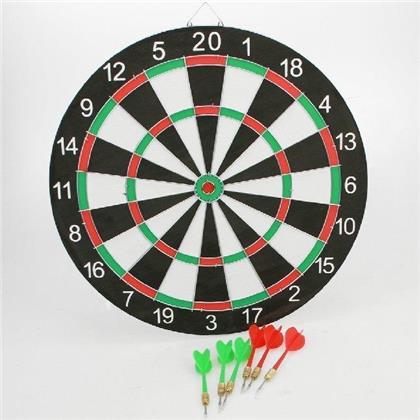 Dartspiel, doppelseitig - mit 6 Stück Darts