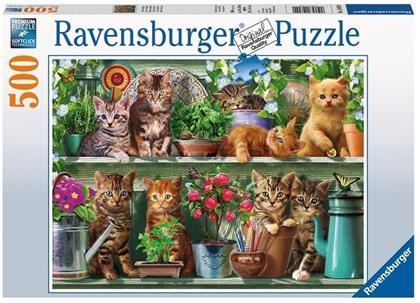 Katzen im Regal - 500 Teile Puzzle