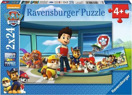 Paw Patrol: Hilfsbereite Spürnasen - 2x 24 Teile Puzzles