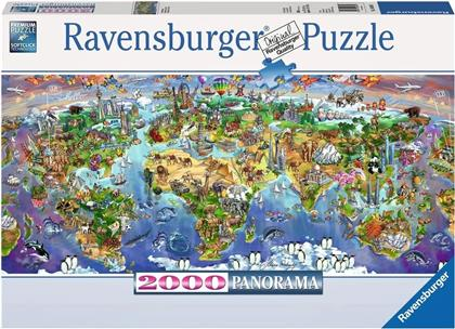 Wunder der Welt - 2000 Teile Panorama Puzzle