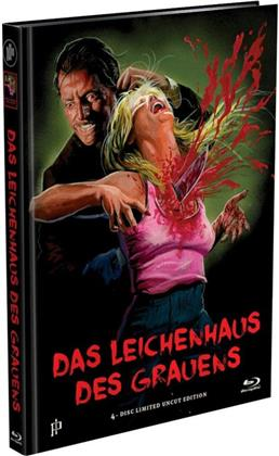 Das Leichenhaus des Grauens (1988) (Cover B, Limited Edition, Mediabook, Premium Edition, Uncut, 2 Blu-rays + 2 DVDs)