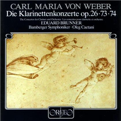 Carl Maria von Weber (1786-1826), Oleg Caetani, Eduard Brunner & Bamberger Symphoniker - Klarinettenkonzerte (LP)