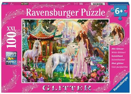 Im Reich der Blütenkönigin - 100 XXL Teil Glitter-Puzzle