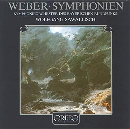 Carl Maria von Weber (1786-1826), Wolfgang Sawalisch & Symphonieorchester des Bayerischen Rundfunks - Symphonies No. 1 & 2 (LP)