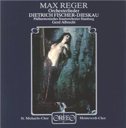 Max Reger (1873-1916), Gerd Albrecht, Dietrich Fischer-Dieskau & Philharmonisches Staatsorchester Hamburg - Orchesterlieder (LP)