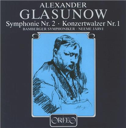 Alexander Glazunov (1865-1936), Neeme Järvi & Bamberger Symphoniker - Symphonie Nr. 2 & Konzertwalzer Nr. 1 (2 LPs)