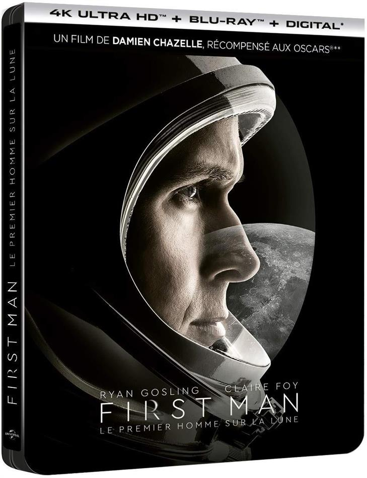 First Man - Le Premier Homme sur la Lune (2018) (Limited Edition, Steelbook, 4K Ultra HD + Blu-ray)