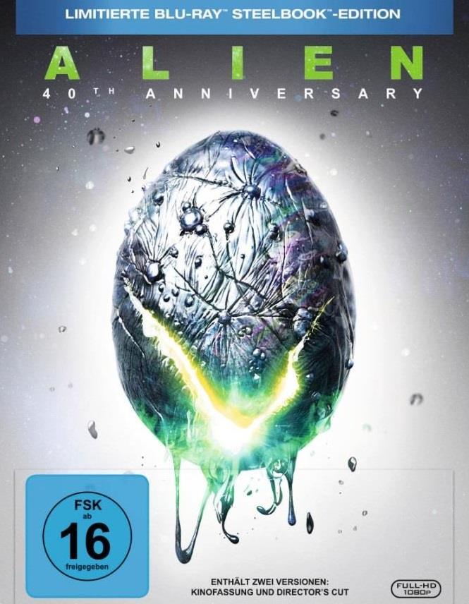 Alien (1979) (40th Anniversary Edition, Director's Cut, Kinoversion, Limited Edition, Steelbook)