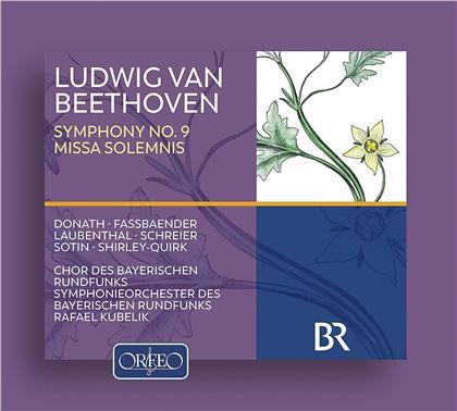 Helen Donath, Brigitte Fassbaender, Ludwig van Beethoven (1770-1827), Rafael Kubelik & Symphonieorchester des Bayerischen Rundfunks - Symphonie Nr. 9 & Missa Solemnis (2 CDs)