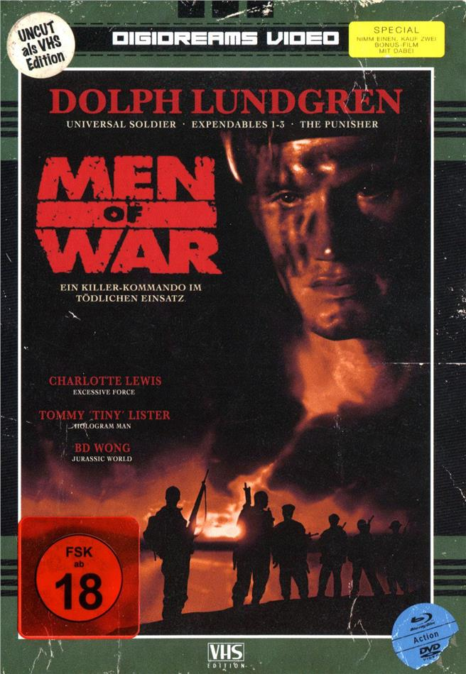 Men of War (1994) (VHS-Edition, Limited Edition, Mediabook, Uncut, Blu-ray + DVD)