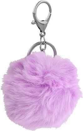 Lila Pom Pom Key Chain
