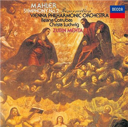 Gustav Mahler (1860-1911), Zubin Mehta, Ileana Cotrubas & Wiener Philharmoniker - Symphonie Nr. 2 (UHQCD)