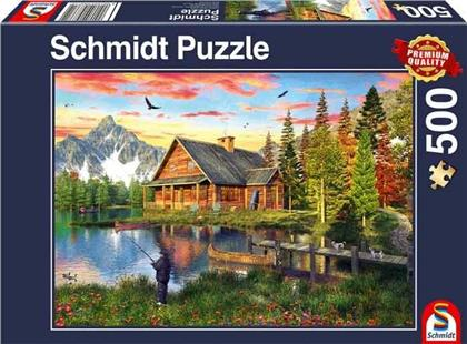 Angeln am See - 500 Teile Puzzle