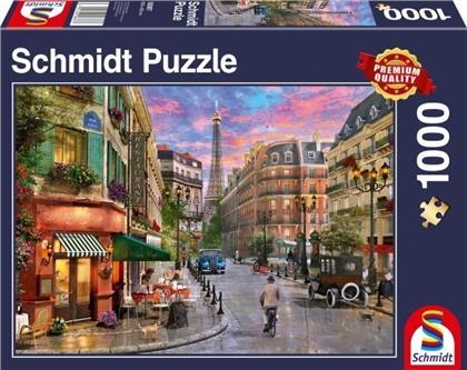 Straße zum Eiffelturm - 1000 Teile Puzzle