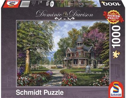 Herrenhaus mit Türmchen - 1000 Teile Puzzle