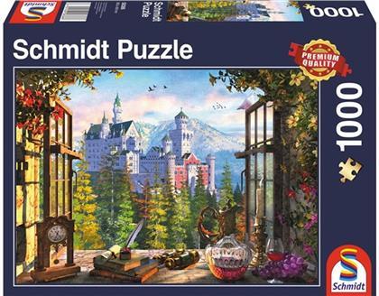 Blick aufs Märchenschloss - 1000 Teile Puzzle