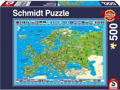 Europa entdecken - 500 Teile Puzzle
